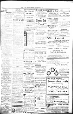 The Daily Deadwood Pioneer-Times from Deadwood, South Dakota on November 2, 1900 · Page 3