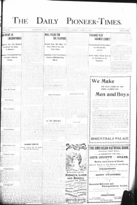 The Daily Deadwood Pioneer-Times from Deadwood, South Dakota on April 17, 1900 · Page 1