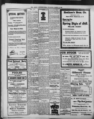 The Daily Deadwood Pioneer-Times from Deadwood, South Dakota on March 10, 1898 · Page 4