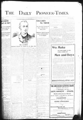 The Daily Deadwood Pioneer-Times from Deadwood, South Dakota on April 29, 1900 · Page 1