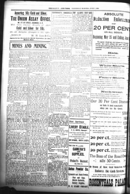 The Daily Deadwood Pioneer-Times from Deadwood, South Dakota on June 7, 1899 · Page 4
