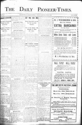 The Daily Deadwood Pioneer-Times from Deadwood, South Dakota on June 9, 1899 · Page 1