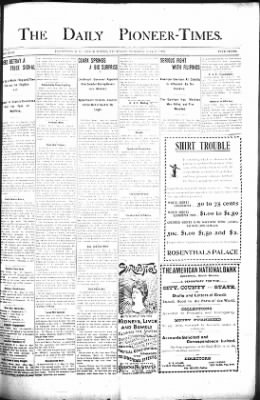 The Daily Deadwood Pioneer-Times from Deadwood, South Dakota on May 17, 1900 · Page 1