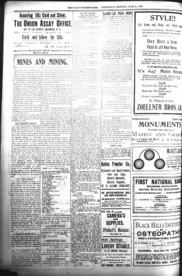 The Daily Deadwood Pioneer-Times from Deadwood, South Dakota on June 21, 1899 · Page 4