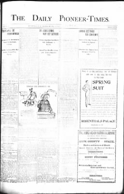 The Daily Deadwood Pioneer-Times from Deadwood, South Dakota on June 8, 1900 · Page 1