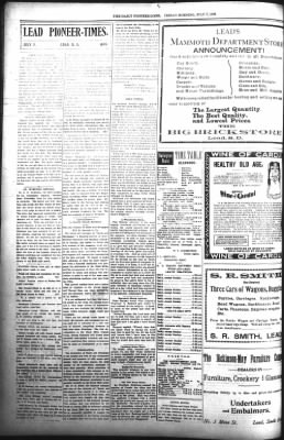 The Daily Deadwood Pioneer-Times from Deadwood, South Dakota on July 7, 1899 · Page 6