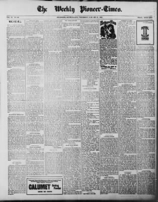 The Weekly Pioneer-Times from Deadwood, South Dakota on January 27, 1898 · Page 1