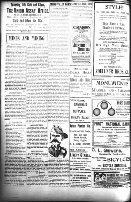 The Daily Deadwood Pioneer-Times from Deadwood, South Dakota on July 11, 1899 · Page 4