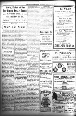 The Daily Deadwood Pioneer-Times from Deadwood, South Dakota on July 19, 1899 · Page 4