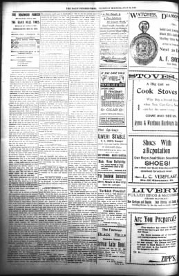 The Daily Deadwood Pioneer-Times from Deadwood, South Dakota on July 20, 1899 · Page 2