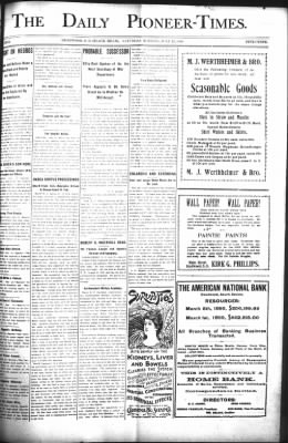 The Daily Deadwood Pioneer-Times from Deadwood, South Dakota on July 22, 1899 · Page 1