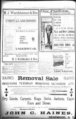 The Lead Daily Pioneer-Times from Lead, South Dakota on October 11, 1900 · Page 20