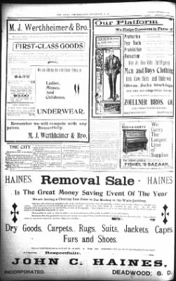 The Lead Daily Pioneer-Times from Lead, South Dakota on October 14, 1900 · Page 8