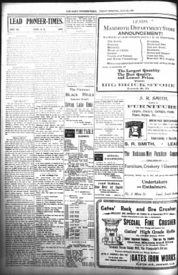 The Daily Deadwood Pioneer-Times from Deadwood, South Dakota on July 28, 1899 · Page 6