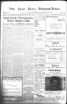 The Lead Daily Pioneer-Times from Lead, South Dakota on November 3, 1900 · Page 10