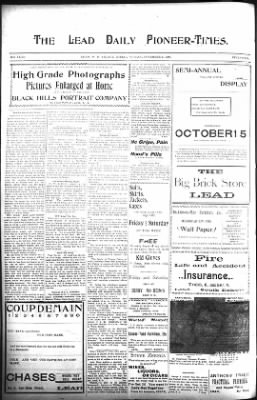 The Lead Daily Pioneer-Times from Lead, South Dakota on November 4, 1900 · Page 14