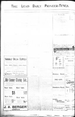 The Daily Deadwood Pioneer-Times from Deadwood, South Dakota on July 17, 1900 · Page 6