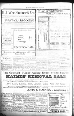 The Lead Daily Pioneer-Times from Lead, South Dakota on November 16, 1900 · Page 8