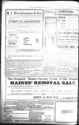 The Lead Daily Pioneer-Times from Lead, South Dakota on November 22, 1900 · Page 8
