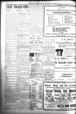 The Daily Deadwood Pioneer-Times from Deadwood, South Dakota on August 13, 1899 · Page 6