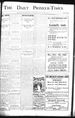 The Daily Deadwood Pioneer-Times from Deadwood, South Dakota on August 19, 1899 · Page 1