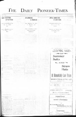 The Daily Deadwood Pioneer-Times from Deadwood, South Dakota on August 17, 1900 · Page 1