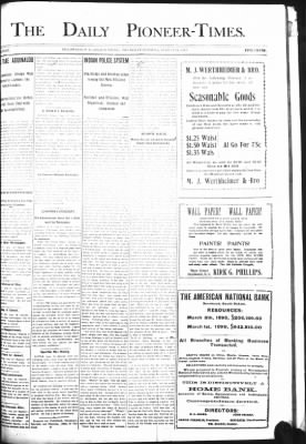 The Daily Deadwood Pioneer-Times from Deadwood, South Dakota on August 24, 1899 · Page 1