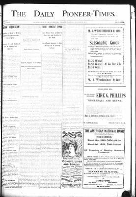The Daily Deadwood Pioneer-Times from Deadwood, South Dakota on August 25, 1899 · Page 1