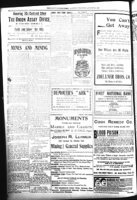 The Daily Deadwood Pioneer-Times from Deadwood, South Dakota on August 26, 1899 · Page 4