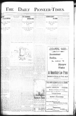 The Daily Deadwood Pioneer-Times from Deadwood, South Dakota on August 28, 1900 · Page 1