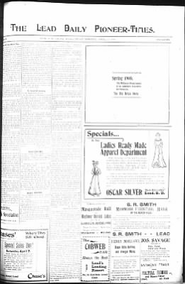The Lead Daily Pioneer-Times from Lead, South Dakota on April 13, 1900 · Page 7