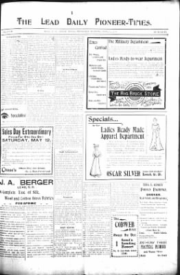 The Lead Daily Pioneer-Times from Lead, South Dakota on May 10, 1900 · Page 7
