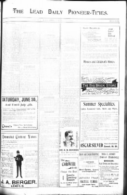 The Lead Daily Pioneer-Times from Lead, South Dakota on June 30, 1900 · Page 9