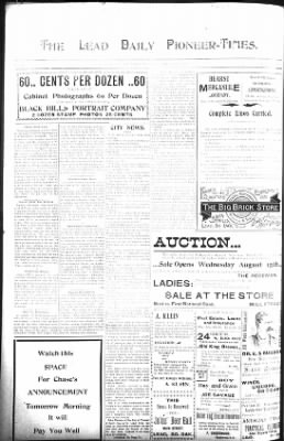 The Lead Daily Pioneer-Times from Lead, South Dakota on August 21, 1900 · Page 6
