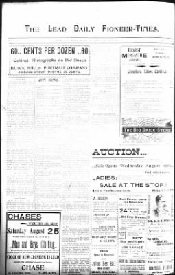 The Lead Daily Pioneer-Times from Lead, South Dakota on August 23, 1900 · Page 6