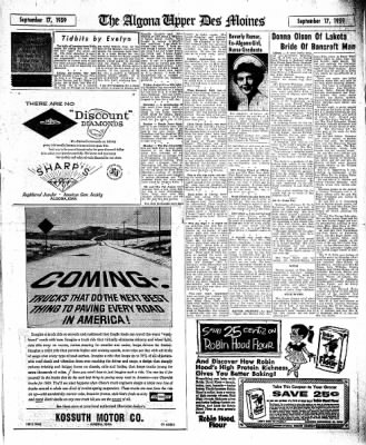 The Algona Upper Des Moines from Algona, Iowa on September 17, 1959 · Page 17