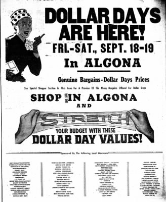 The Algona Upper Des Moines from Algona, Iowa on September 17, 1959 · Page 19