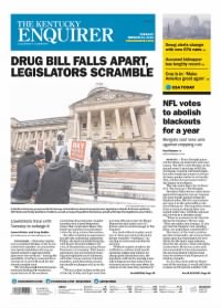 Sample The Kentucky Enquirer front page