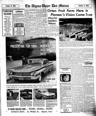 The Algona Upper Des Moines from Algona, Iowa on October 8, 1959 · Page 17