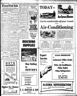 The Algona Upper Des Moines from Algona, Iowa on March 30, 1948 · Page 6