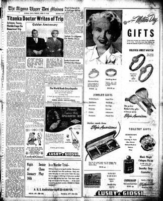 The Algona Upper Des Moines from Algona, Iowa on April 27, 1948 · Page 9