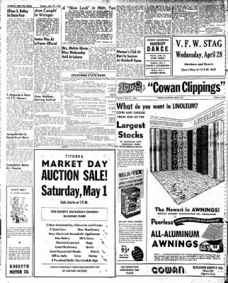 The Algona Upper Des Moines from Algona, Iowa on April 27, 1948 · Page 12