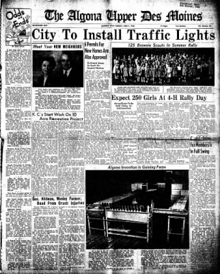 The Algona Upper Des Moines from Algona, Iowa on June 1, 1948 · Page 1