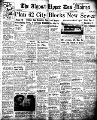 The Algona Upper Des Moines from Algona, Iowa on June 29, 1948 · Page 1