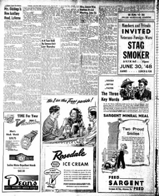 The Algona Upper Des Moines from Algona, Iowa on June 29, 1948 · Page 8