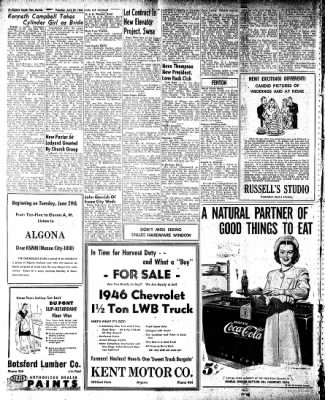 The Algona Upper Des Moines from Algona, Iowa on June 29, 1948 · Page 12