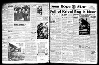 Hope Star from Hope, Arkansas on October 28, 1943 · Page 1