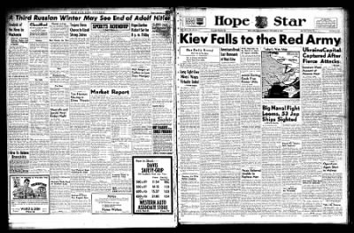 Hope Star from Hope, Arkansas on November 6, 1943 · Page 1