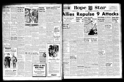 Hope Star from Hope, Arkansas on November 10, 1943 · Page 1
