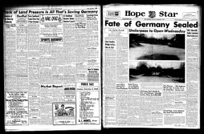 Hope Star from Hope, Arkansas on December 4, 1943 · Page 1